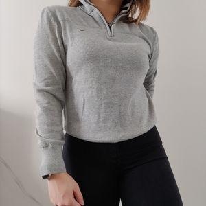 Light Grey Tommy Hilfiger Quarter Zip Sweater